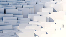 Scattered cubes - 8k abstract background. Scattered 3d white cubes - 8k abstract background Royalty Free Stock Images