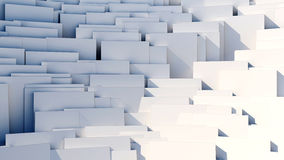 Scattered cubes - 8k abstract background. Scattered 3d white cubes - 8k abstract background Stock Illustration