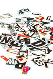 Scattered cut out letters Royalty Free Stock Image