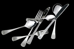 Scattered Cutlery Royalty Free Stock Photos