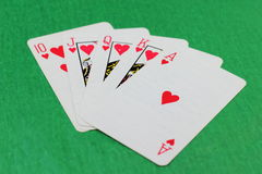 Scattered deck of cards Stock Images