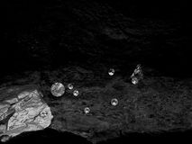 Scattered Diamonds on a Bed of Rock stock photo