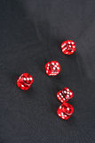 Scattered Dices Stock Photos