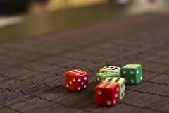 Scattered Dices. On the Table Royalty Free Stock Photos
