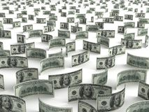 Scattered Dollars. ( Computer generated image Stock Illustration