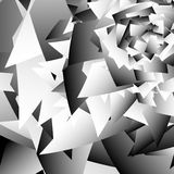 Scattered edgy shapes. Overlapping random shapes. Abstract geome Royalty Free Stock Photography