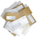 Scattered Envelopes Royalty Free Stock Images