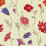 Scattered flowers pattern Stock Photography