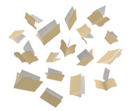 Scattered Folders. A shot of file folders scattered in the air on a White background Stock Photos