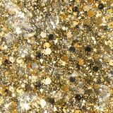 Scattered Gem and Sequin Print. Multicolour sequins and gems create this abstract sparkle background print Royalty Free Stock Images