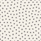 Scattered Geometric Line Shapes. Abstract Background Design. Vector Seamless Black and White Pattern. Stock Photos