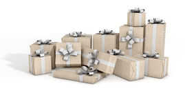 Scattered Gift Box Pile Royalty Free Stock Images