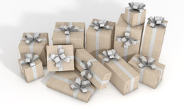 Scattered Gift Box Pile Stock Photos