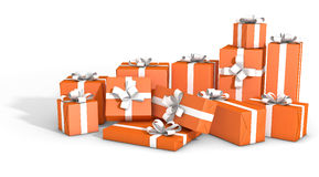 Scattered Gift Box Pile Stock Image