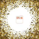 Scattered glittering 3d stars confetti isolated on white back Stock Photos
