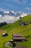 Scattered hamlet in the Prealps Royalty Free Stock Photography