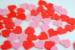 Scattered hearts Royalty Free Stock Photos