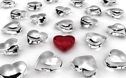 Scattered Hearts Royalty Free Stock Photography