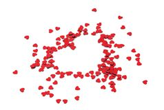 Scattered Hearts Form Heart Shape Stock Photos