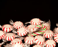 Scattered Holiday Candy Stock Photography