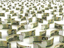 Scattered Iranian Rial Stock Image