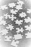 Scattered jigsaw peaces Royalty Free Stock Photos