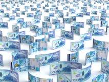 Scattered Kazakh Tenge Stock Images