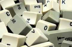 Scattered keyboard Stock Images