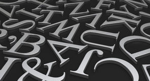 Scattered Letters Stock Images