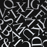 Scattered Letters Royalty Free Stock Image
