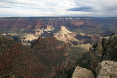 Scattered light and storms over the South Rim of the Grand Canyon. Royalty Free Stock Photography