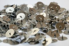 Metal office buttons Stock Image