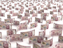 Scattered Mexican Pesos Stock Photos