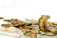 Scattered money Royalty Free Stock Photo