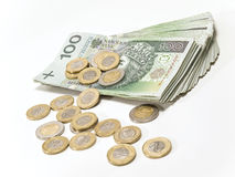 Scattered money. Stock Photos