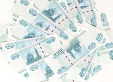 Scattered money bills Royalty Free Stock Images
