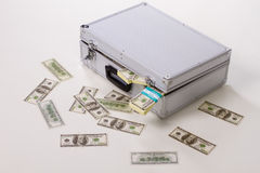 Scattered money. Royalty Free Stock Images