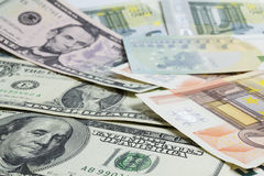 Scattered money. Stock Image