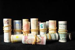 Scattered Money Stock Photography