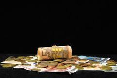 Scattered Money Stock Image