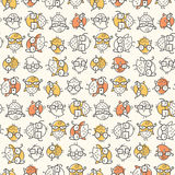 Scattered Nerd Bird Pattern vector illustration