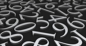 Scattered Numbers Stock Photography