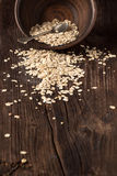 Scattered oatmeal Royalty Free Stock Photography