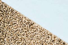 Wood pellets for heat and heat. royalty free stock photos