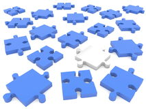 Scattered pieces of puzzle. In backgrounds Royalty Free Stock Photography