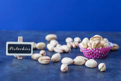 Scattered Pistachios Royalty Free Stock Photography