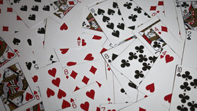 Scattered playing cards Stock Photography