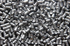 Scattered pneumatic bullet (macro, close up) Royalty Free Stock Photography