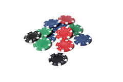Scattered Poker Chips Royalty Free Stock Photography