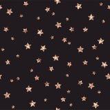 Rose Gold Glitter Stars Seamless Pattern royalty free illustration
